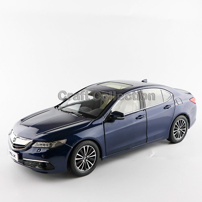 * Blue 1:18 Honda Acura TLX 2015 Luxury Vehicle Diecast Model Show Car Miniature Toys Alloy Gifts Collection Minicar