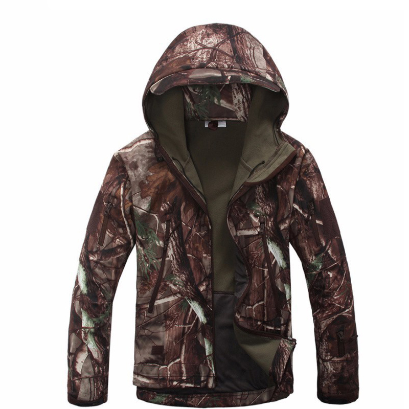 Hot! Softshell Jacket Men Military Tactical Jackets Outdoor Waterproof  Sports Camouflage Hunting Camping Hiking Fleece Jackets