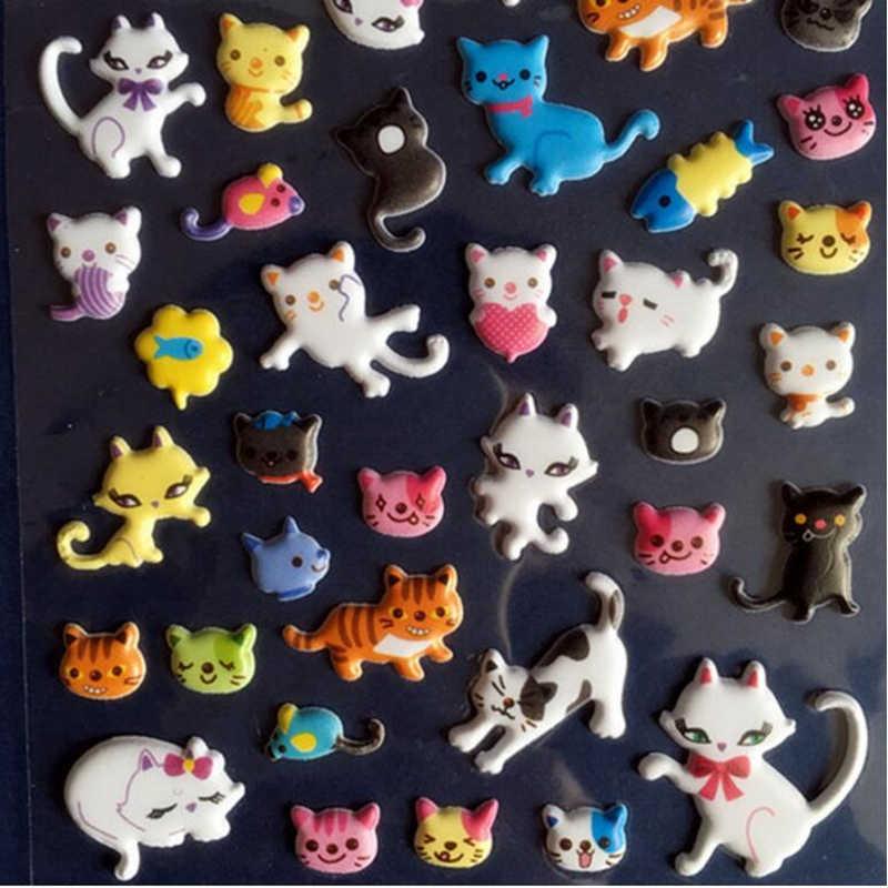 1PCS Nette Katze Schreibwaren Aufkleber 3D Blase Aufkleber Schönen Tagebuch Dekorative Aufkleber Büro Geschenk Lieferungen Buch YOUE GLÄNZTE