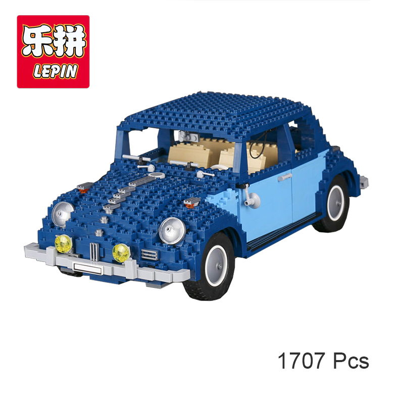 Lepin 21014 Technic Series Volkswagen Ultimate Beetle Set Building Block Bricks Toys Model Compatible with Lego 10187 1707Pcs gonlei 10566 series volkswagen beetle model sets building kit blocks bricks toy compatible with