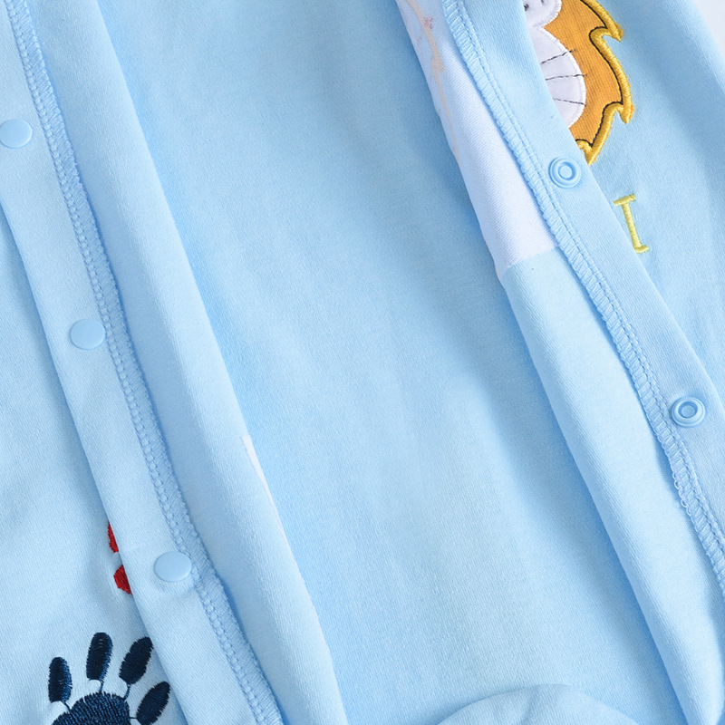 ea7a0e4eb Embroidery Lion style Children s Clothing Pajamas Newborn Baby ...