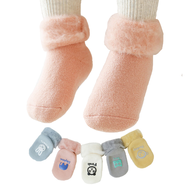 7a6a1b57c newborn socks baby non slip socks winter warm home slippers baby new ...