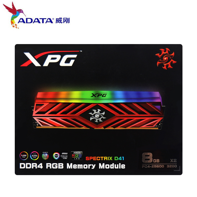 ADATA New XPG D41 PC Desktop Memory RAM Memoria Module 8GB16GB 2X8GB DDR4 PC4 3200Mhz 3000MHZ 2666MHZ DIMM 2666 3000 3600 MHZ