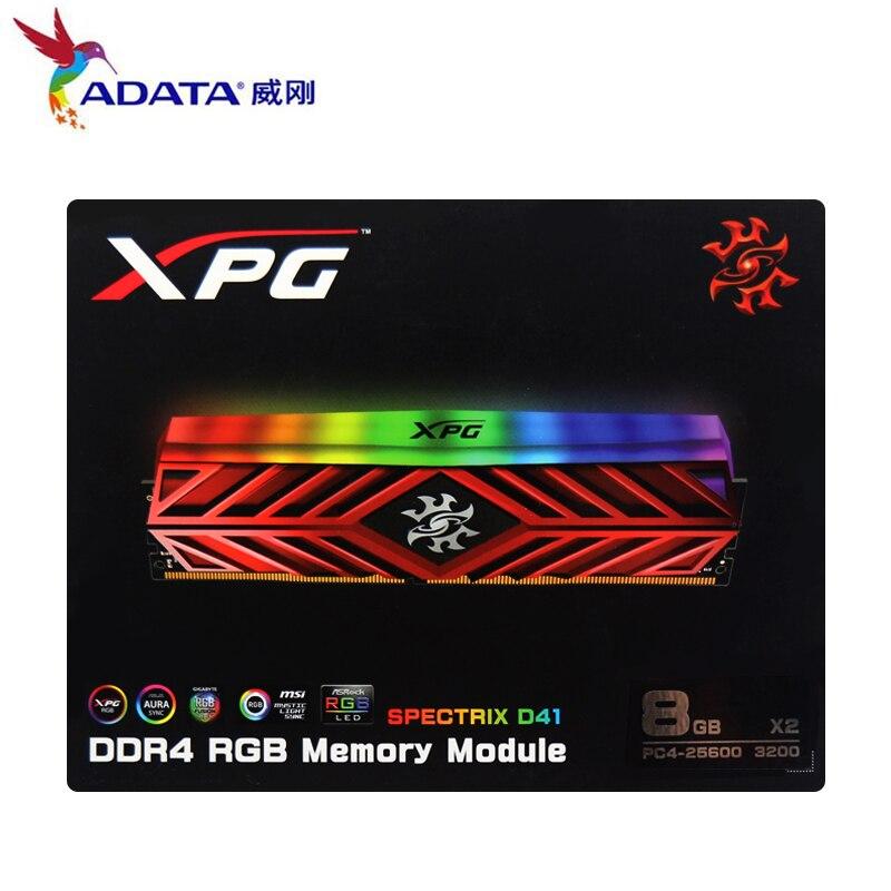 Nouveau XPG D41 ordinateur de bureau de mémoire RAM Module de mémoire 8GB16GB 2X8GB DDR4 PC4 3200Mhz 3000MHZ 2666MHZ DIMM 2666 3000 3600 MHZ