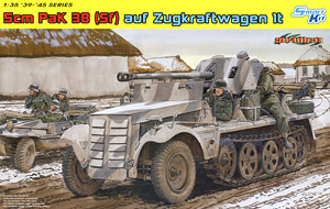 1 35 scale model Dragon 6719 5cm Pak38 Sf auf Zugkraftwagen 1t