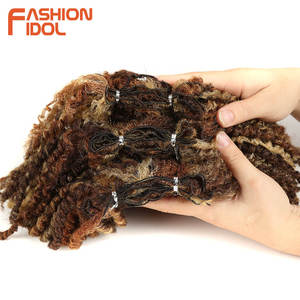 Image 5 - FASHION IDOL Mongolian Afro Kinky Curly Weave Hair Bundles Full Head 3Pcs/Pack 6 Inch Synthetic Hair Extension Free Shipping