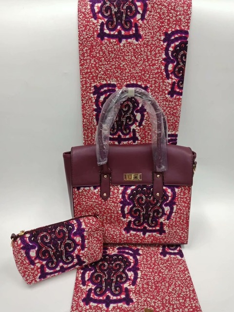 378e4ce98413 african wax print fabric with matching bag sets ankara wax print bags for party  100%