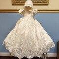 2017 Venta Caliente de Marfil de color y la Longitud de la nuevo Vestido Del Bebé Del Bautizo Del Bebé Vestidos de Niña de Cumpleaños Bautismo vestidos