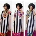 2016 Новый Дизайн Моды Африканские Женщины Базен Riche Супер Упругой Партия Плюс Размер Ромба Свободные Dashiki Платье Для LadyG016