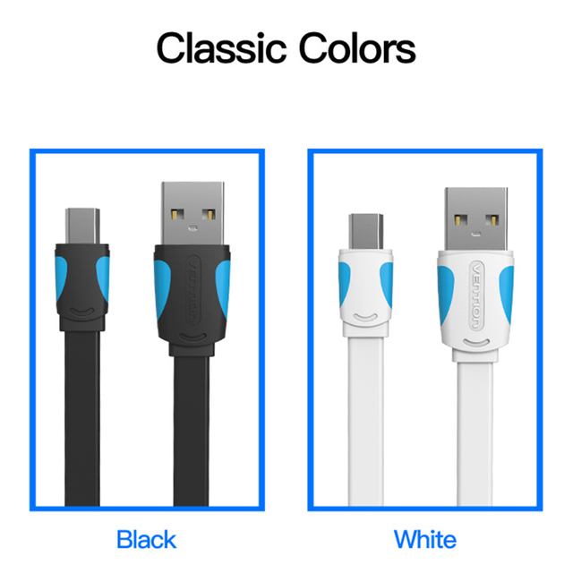 Vention Mini USB Cable 0.25m 0.5m 1m 1.5m 2m Data Sync USB Charger Cable For MP3 MP4 Player GPS Camera mobile phone Mini USB