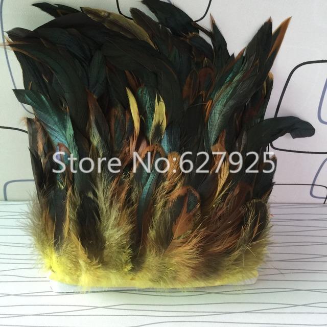 Whole Yellow Tail Feather Edge Trim 20yards Wedding Centerpieces Decor Diy Table Free Shipping