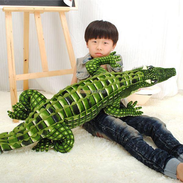 Fancytrader 79 ''/200 cm le plus grand jouet de Crocodile en peluche doux et mignon en peluche, beau cadeau pour enfant, livraison gratuite FT50226