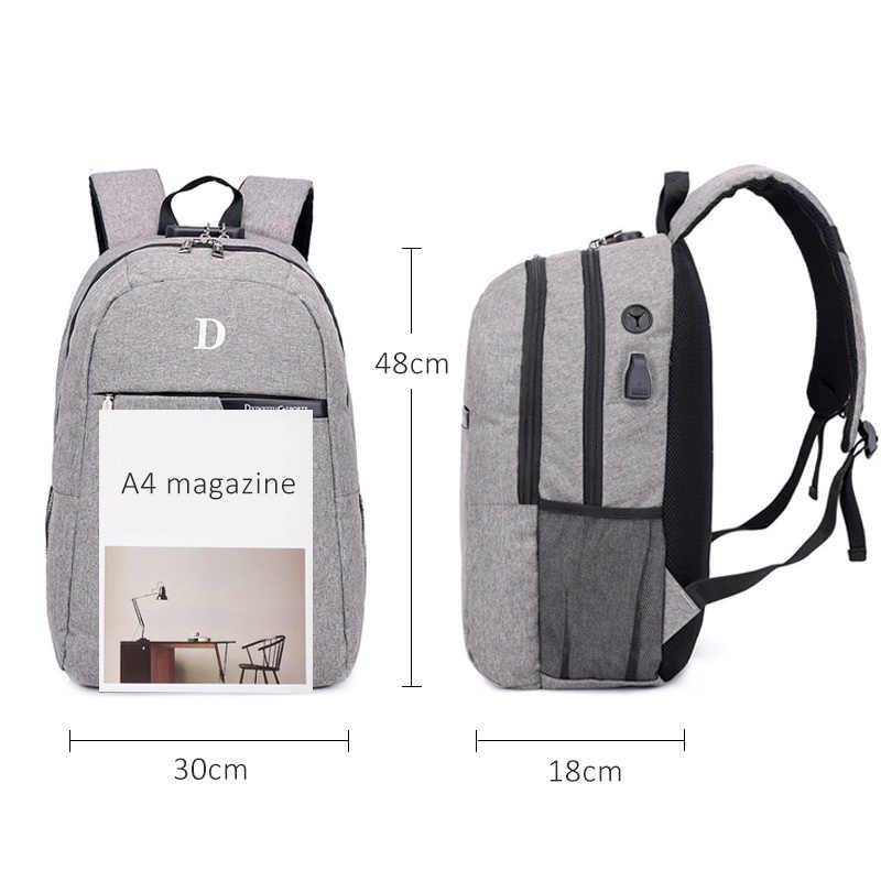 Рюкзак для ноутбука, 15 дюймов, водонепроницаемый, с автономным разъемом для наушников, рюкзак для мужчин, многофункциональный рюкзак, USB, школьная сумка