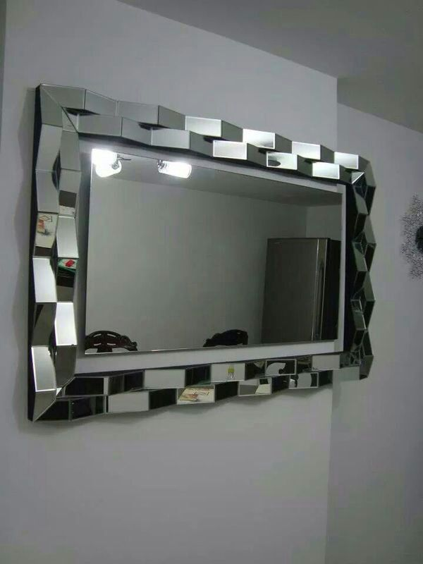 3D espejo gris la pared marco del espejo MR 2D0110 en Espejos ...