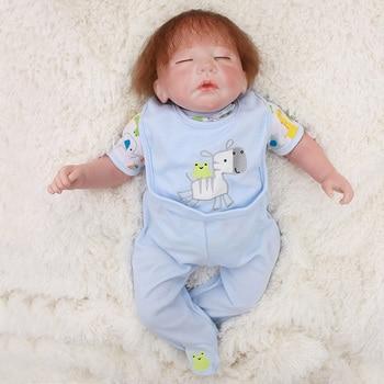 48cm reborn boy dolls soft silicone newborn baby dolls toys gift for child gift Bebes reborn menino bonecas