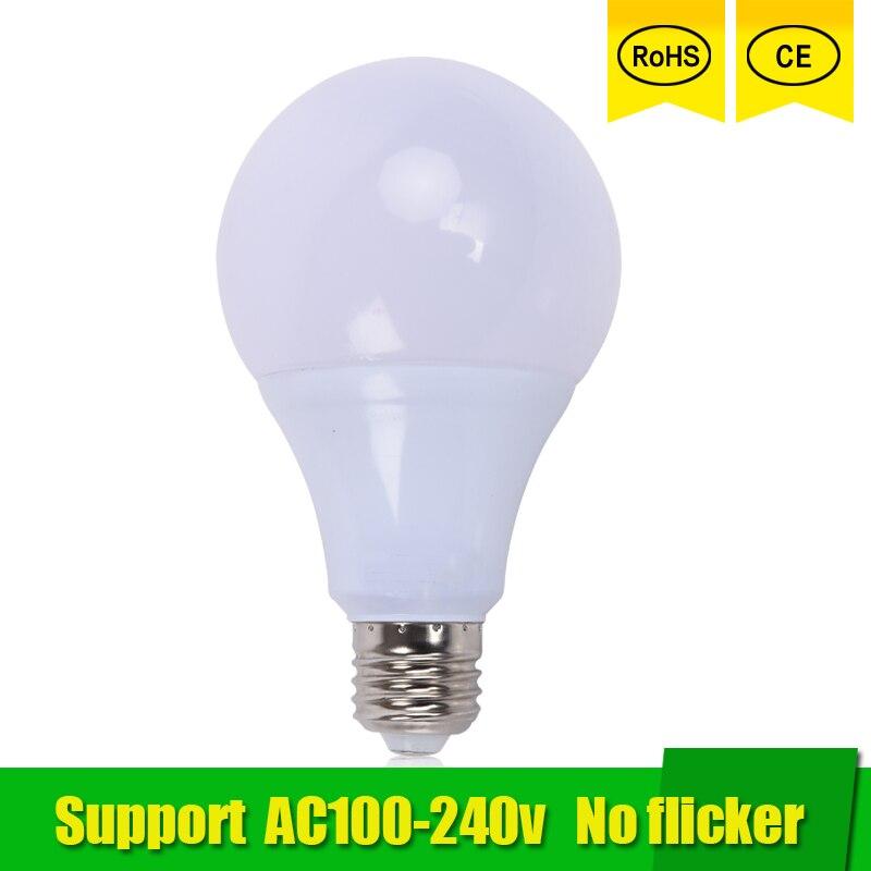 High Power E27 LED Lamp Bulb Light Spotlight Led Light Bulb Lampada Led E27 Lamparas 21W 18W 15w 12w 3W 100-240v LED Bombillas