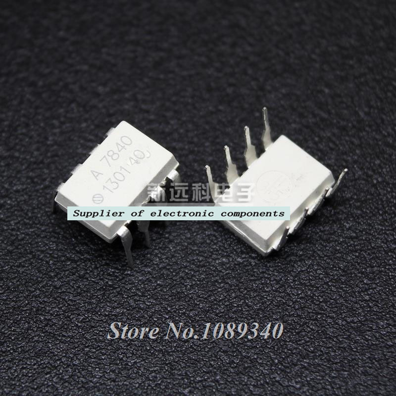 5PCS free shipping HCPL7840 HCPL-7840 <font><b>A7840</b></font> A 7840 DIP8 opto coupler 100% new original quality assurance image