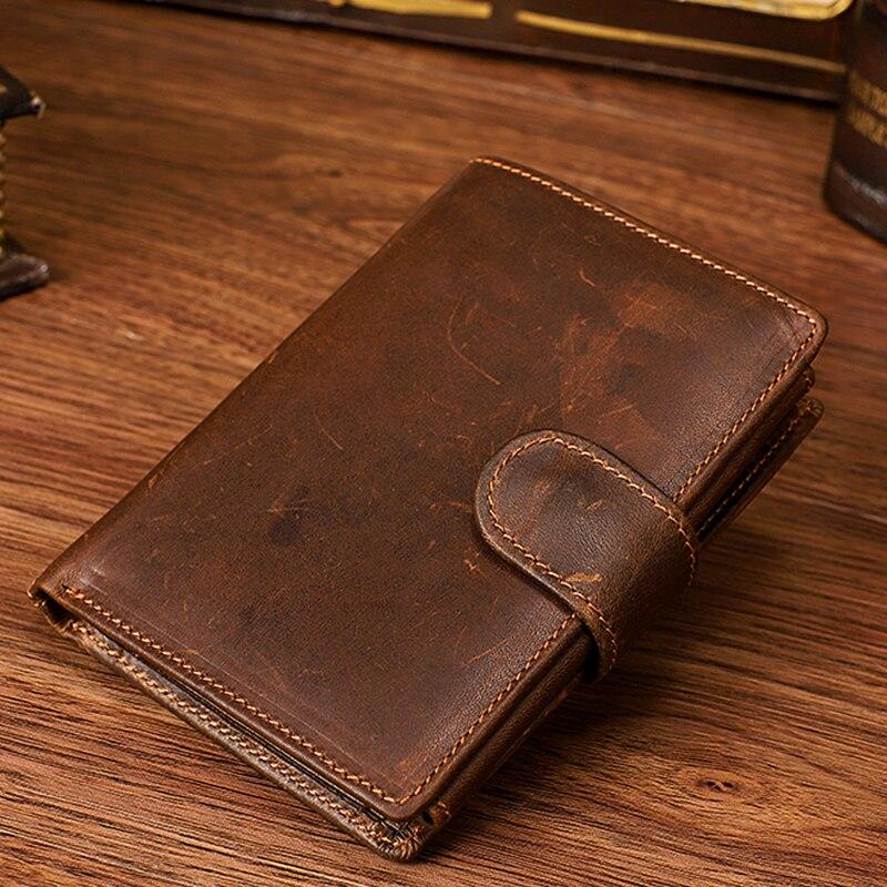 Classical Genuine Leather Men Money Wallet Handmade