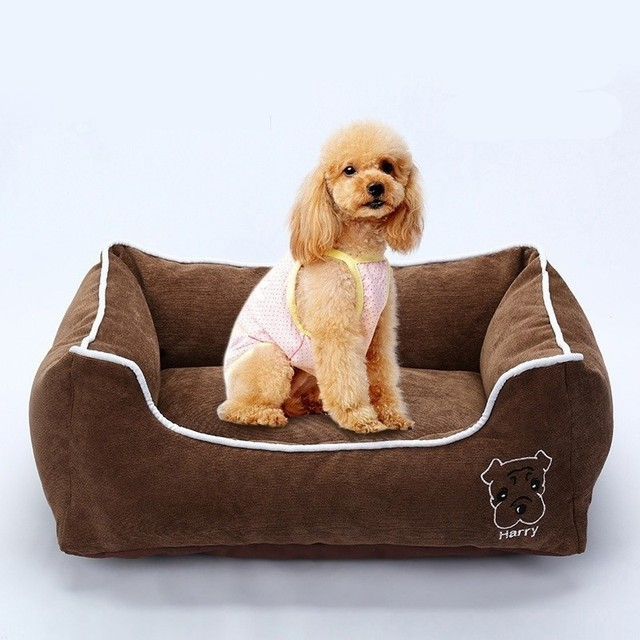 Pet Bed for Small Medium Large Dog Crate Pad Deluxe Soft Bedding Moisture Proof Bottom for All Seasons Puppy Dog House Pet Bed 3