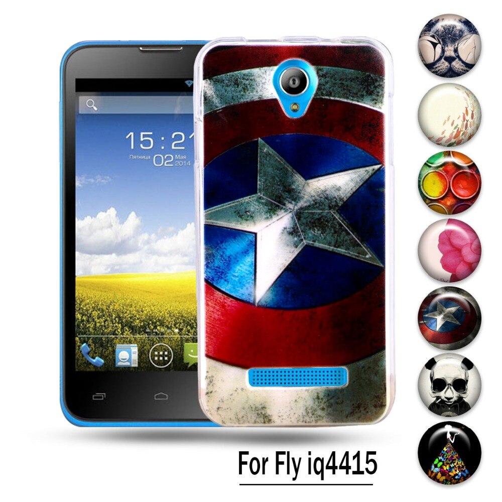 AKABEILA Silicon Case For Fly IQ4415 quad Era Style 3 IQ 4415 Phone Cover Cute Animal Cat Elephant Giraffe Pattern