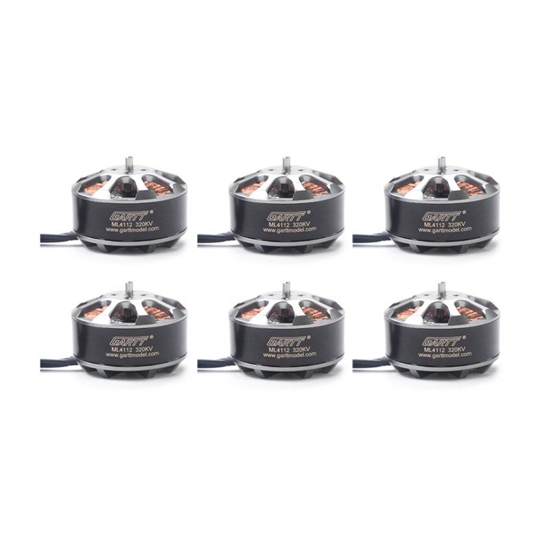 6PCS GARTT ML 4112 320KV Brushless Motor For RC Quadcopter Multicopter Milti-rotor Drone gartt ml 4112 480kv brushless motor for rc quadcopter multicopter milti rotor drone
