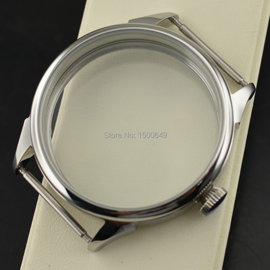 42mm NEW Fully polished stainless steel specially case fit 6497 6498 ST3600 st3620 hand winding mechanical