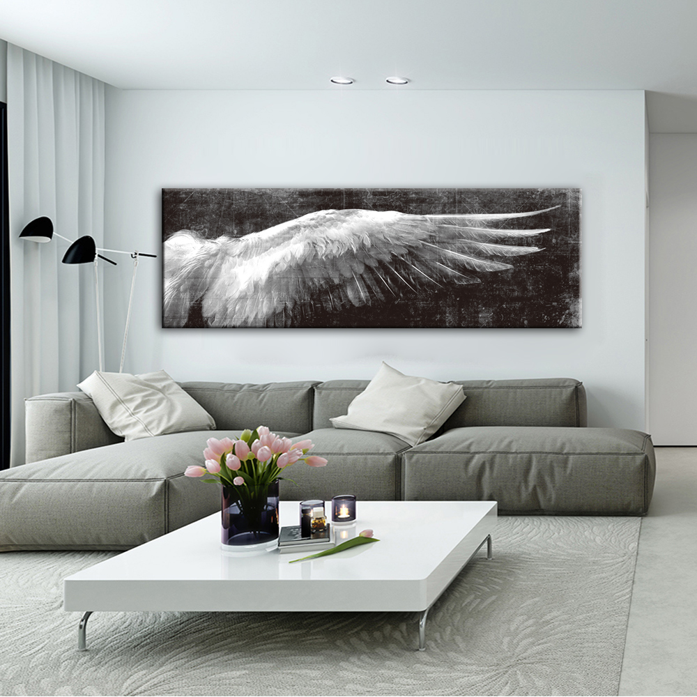 Angel Wings Vintage Wall Posters And Prints Black And White Wall Art Canvas Paintings Wings Pop Art Wall Picture For Living Room