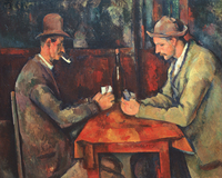 frameless canvas painting figure posters Imagich Top 100 prints Card Players c.1890 By Paul Cezanne giant poster home picture