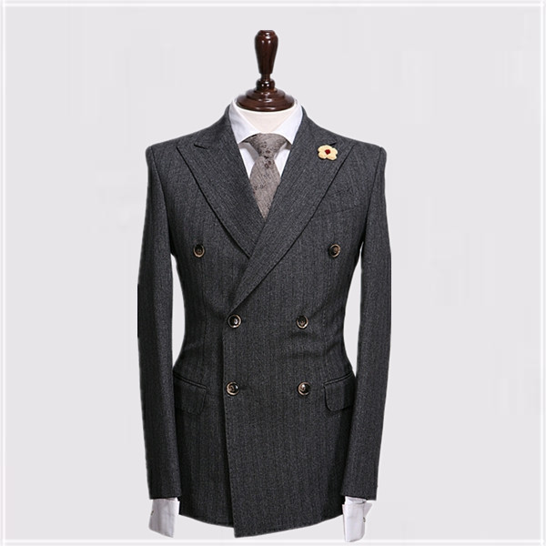 Aliexpress.com : Buy unique peak lapel double breasted striped