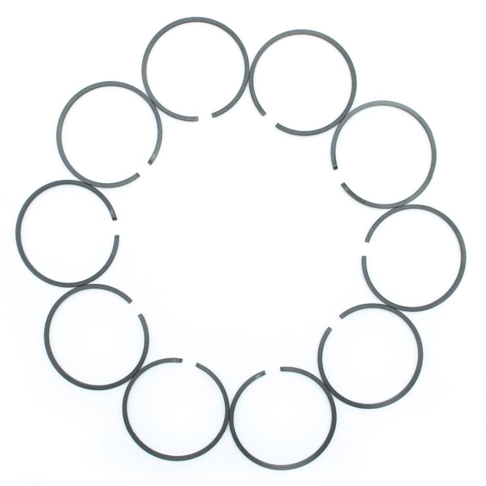 10Pcs/lot 38mm X 1.5mm Piston Ring Kit For HUSQVARNA 36 41 136 136LE 137 137e 141 141LE 142 142e Chainsaw Spare Parts