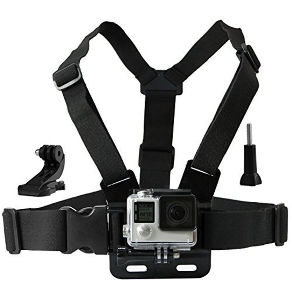 chest mount harness with j hook for sjcam sj4000 go pro. Black Bedroom Furniture Sets. Home Design Ideas