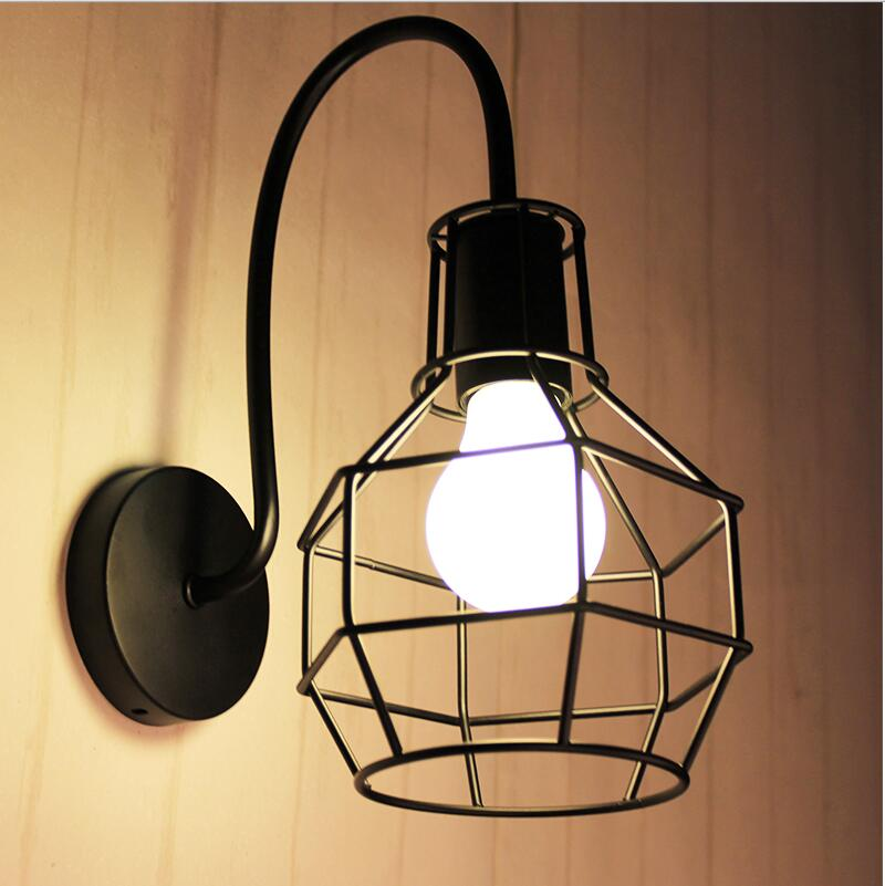 Loft wall mounted light for living room foyer bed dining room lamps led bathroom lights fixtures for Living room wall light fixtures