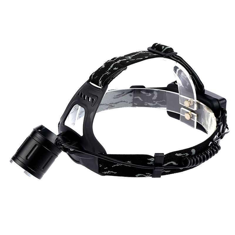 LED strong light long shot headlight night fishing night T13 strong light zoom head lamp