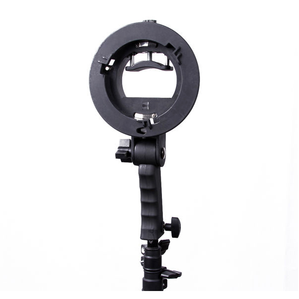 Bracket Pro Mount Adapter Holder for Speedlite Snoot Flash Softbox with Hand grip