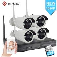 1080 P 4CH домашней безопасности Wifi CCTV системы Беспроводной NVR комплект 2.0MP Крытый Открытый водонепроницаемый IP камера P2P видео набор для наблюд...