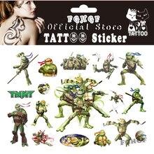 FGHGF 10PCS/lot Ninja Turtle Child Temporary Body Art Flash Tattoo Sticker 17*10cm Waterproof painless tattoo