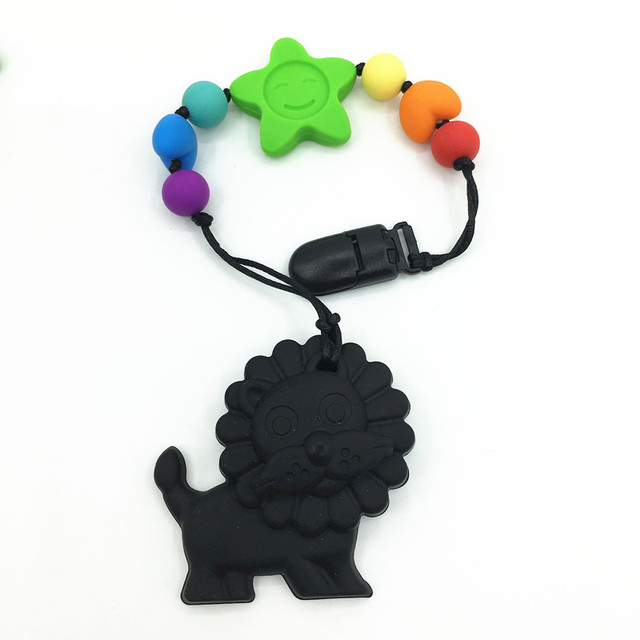 Bpa silicone baby teething pendant clips silicone teething bpa silicone baby teething pendant clips silicone teething pacifier clip with large lion pendant heart chew mozeypictures Gallery