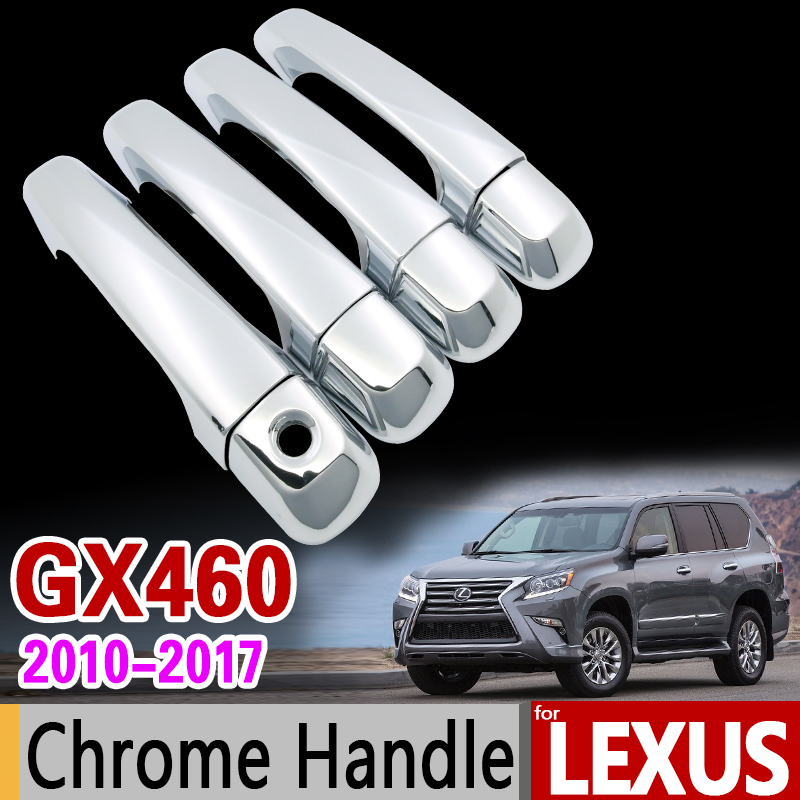 for Lexus GX460 2010 - 2017 Luxurious Chrome Handle Cover Trim Set GX j150 2011 2012 2013 2014 2015 2016 Accessories Car Styling for suzuki splash 2007 2014 chrome handle cover trim set of 4door 2008 2009 2010 2011 2012 2013 accessories sticker car styling