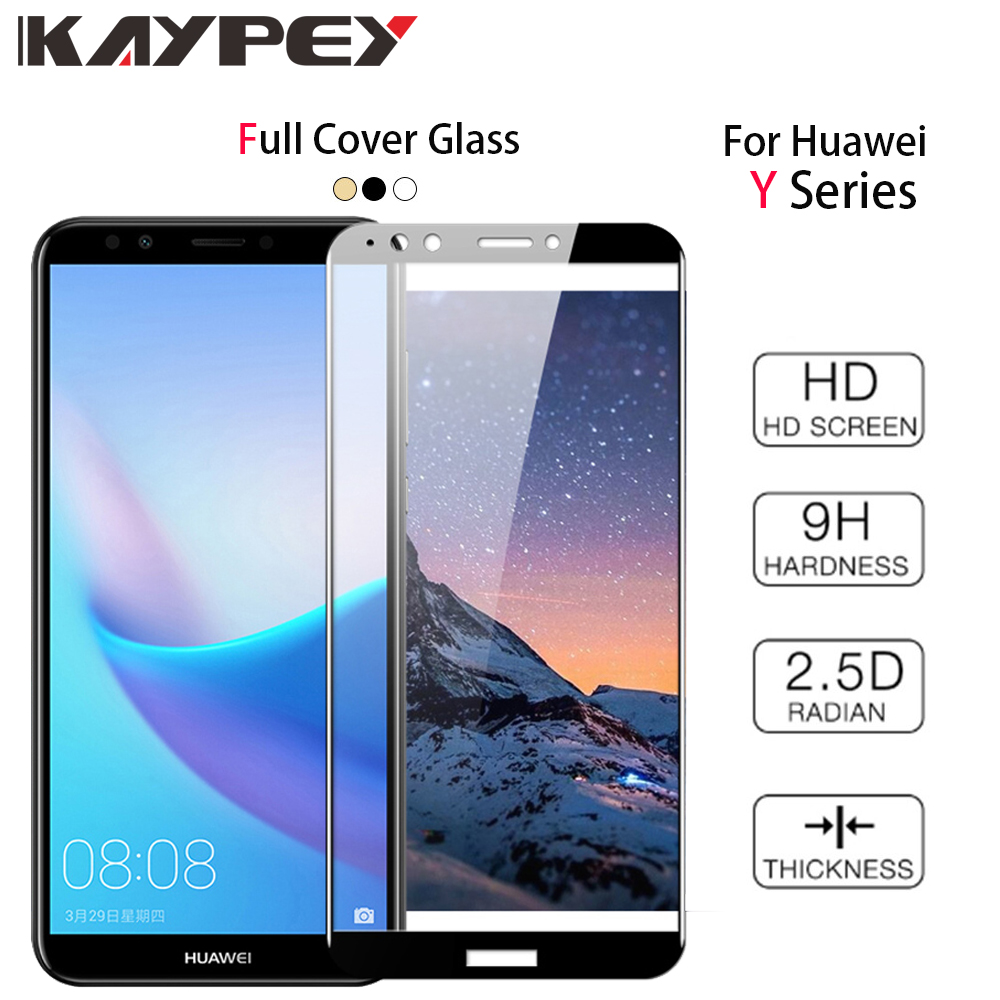 Full Cover Tempered Glass For Huawei Y3 Y5 Y6 Y7 2018 Version Screen Protector protective Film For Huawei Y7 Y9 Pro Prime Glass