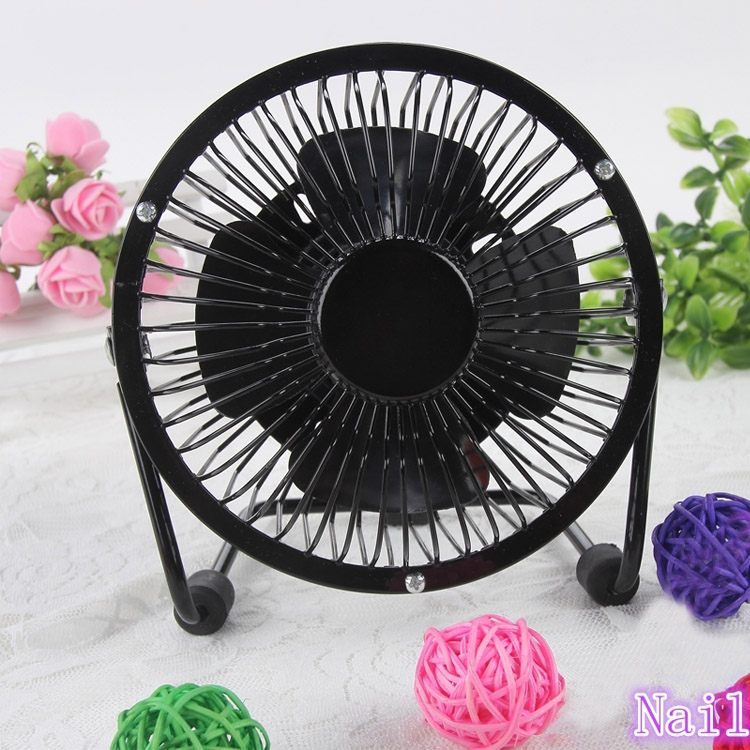 Online Shop Mini Nail Dryer Fan Electric Desk Metal Fan Nail Art ...