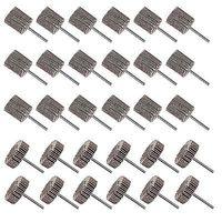 30Pcs Abrasive Flap Wheel Sander 80 Grit 1 8 Shank Diameter 32mm 3 8 Thick And