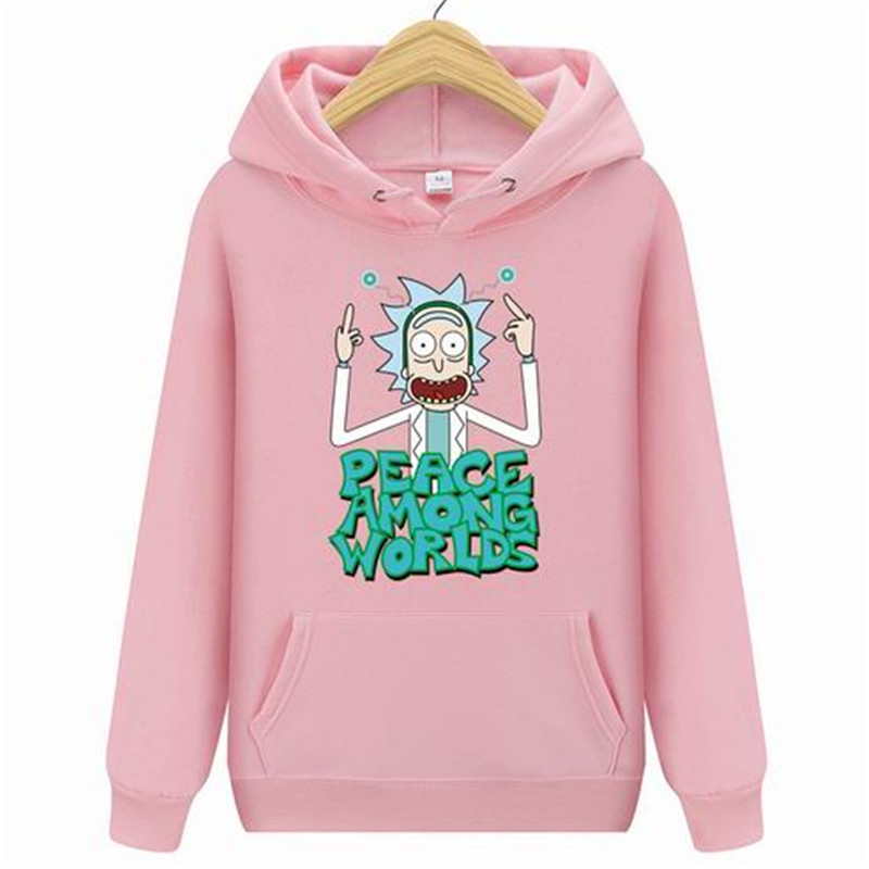 Hip Hop Men Rick and Morty Fashion Hoodie 2019 New Casual Mens Sweatshirt Print Pullover