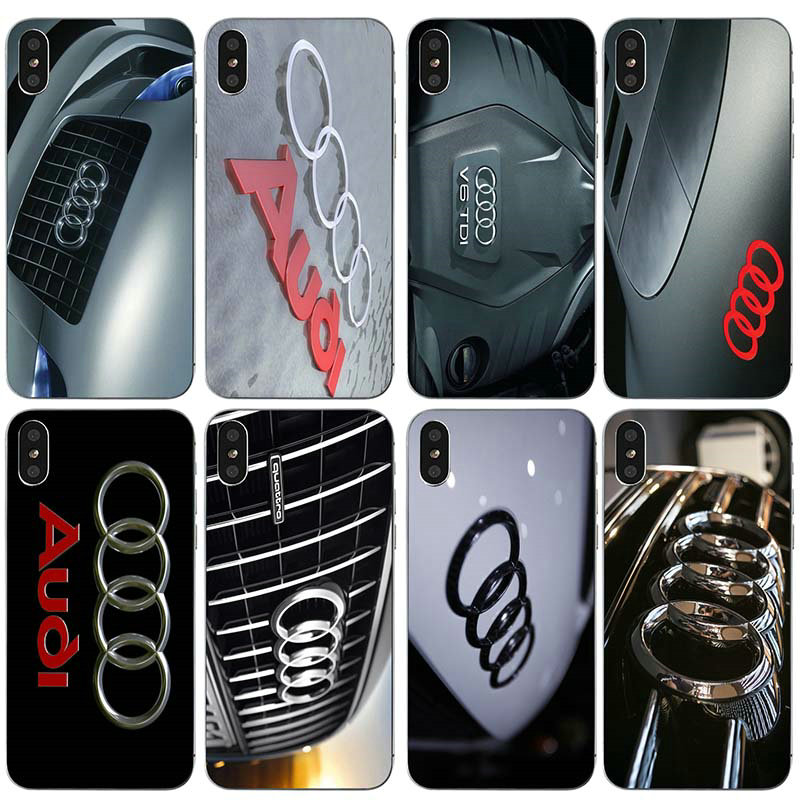 cccd231838b Soft TPU Silicone Mobile Phone Accessories Cover for iPhone 6 6s 7 8 Plus X  XR XS Max 5 5S 5C SE 4 4S Cases Hot Audi Car Logo