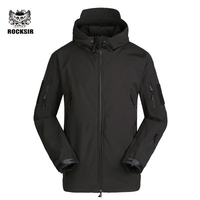 Rocksir Fashion Bomber Men Thick Outwear Winter Warm Jacket For Men Soft Windbreaker Men Jacket Autumn
