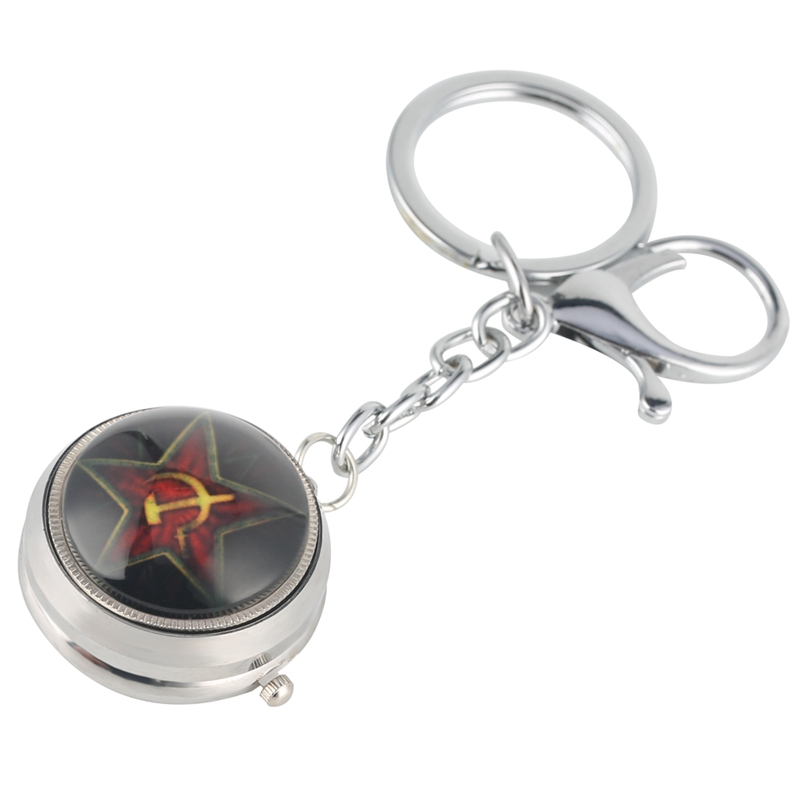 USSR Keychain Watch The Little Prince Theme Quartz Hanging Watch CCCP Little Cute Key Chain Charms Christmas Gifts For Men Women