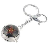 USSR Sleutelhanger Horloge De Kleine Prins Thema Quartz Opknoping Horloge CCCP Little Leuke Sleutelhanger Charmes Kerst Cadeaus voor Mannen vrouwen-in Zakken & Zakhorloges van Horloges op