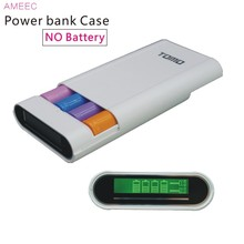 TOMO M4 18650 3.7V Li ion Battery Charger Case Power Bank Box Charge For Batteries Dual USB 5V2A Black ( Not )