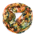 Flower pure silk scarf women foulard bufandas floral chiffon bandanas ladie scarves prices in euros echarpe femme wholesale
