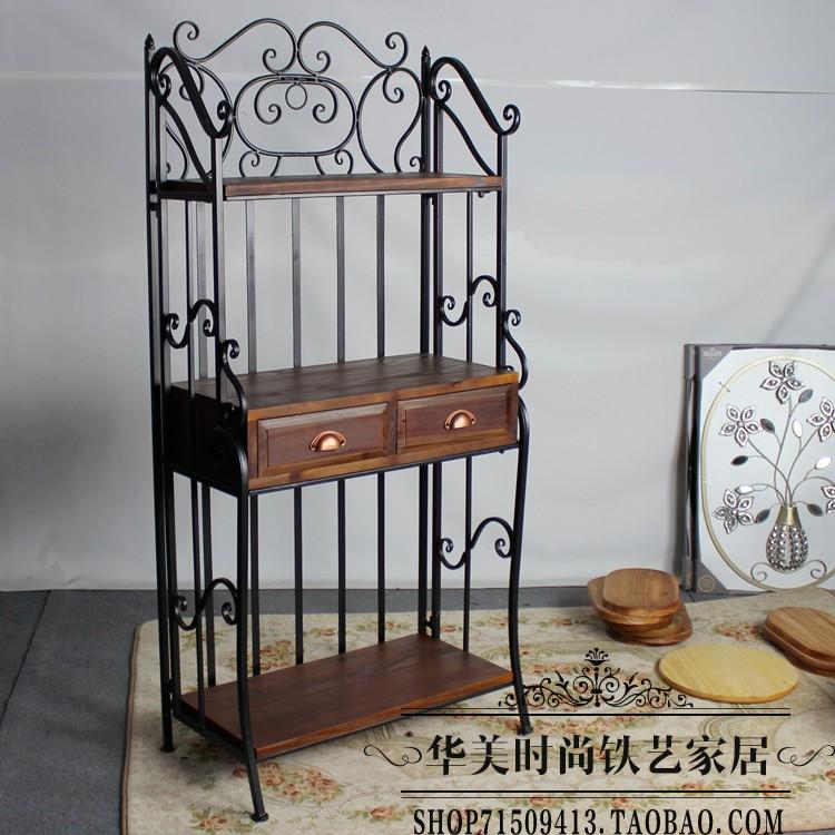 American Wood Wall Shelf Shelves Retro Creative Wrought Iron Bracket Bookcase In Swivel Plates From Home Improvement On Aliexpress