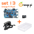Orange Pi Плюс 2 SET13: Pi Плюс 2 + Питание + Прозрачный Акриловый Чехол + 16 ГБ Класса SD Карты для Orange Pi За малина